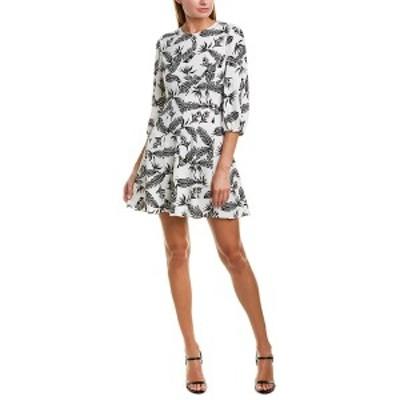 ジェイゴッドフライ レディース ワンピース トップス Jay Godfrey A-Line Dress feather print black