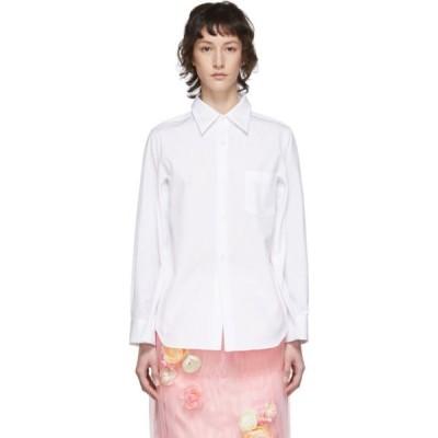 コム デ ギャルソン Comme des Garcons レディース ブラウス・シャツ トップス White Broad Four-Sleeve Shirt White
