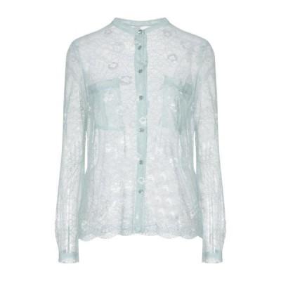 SOUVENIR レースシャツ&ブラウス  レディースファッション  トップス  シャツ、ブラウス  長袖 ターコイズブルー