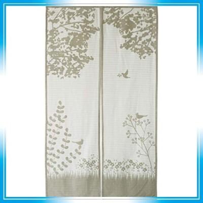 sunny day fabric のれん オフホワイト 約幅85cm x 丈150cm ニーナ ガーゼ 北欧 リバーシブル