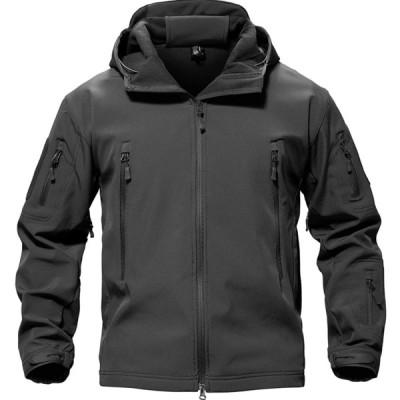 タクティカル ジャケット ソフト シェル アウトドア 保温 迷彩服 裏起毛 上着 多機能 登山 フード付 防水
