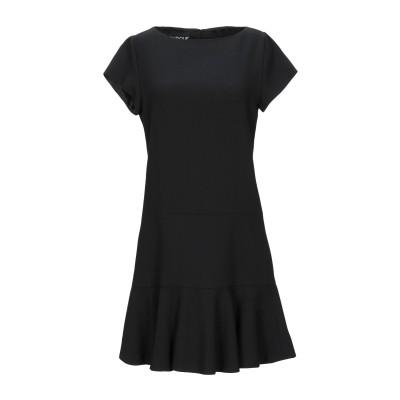 BOUTIQUE MOSCHINO ミニワンピース&ドレス ブラック 44 バージンウール 100% ミニワンピース&ドレス