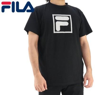 フィラ Tシャツ 半袖 メンズ フィラ UVカット カジュアル ボックスロゴ ブラック FILA 411347