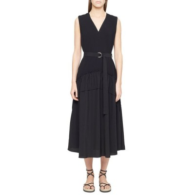 スリーワンフィリップリム レディース ワンピース トップス V-Neck Crepe Tank Dress w/ Shirred Skirt