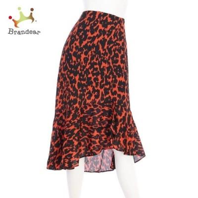 ローマン ROMAN スカート サイズL レディース 新品同様 レッド系 フレアスカート  値下げ 20200721