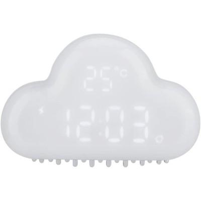 Acouto [デジタル時計] 雲の形目覚まし時計 アラームデジタル温度時計 スヌーズカレンダー 音声アクティベーション 多機能クロック 目覚まし(ホ