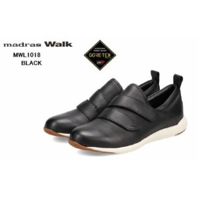 マドラスウォーク(madras Walk)MWL1018 【抗ウイルス・抗菌加工】【GORE-TEX】レザーベルクロカジュアルスニーカーシューズ レディス