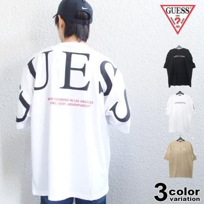 激レア GUESS ゲス Tシャツ 半袖 メンズ レディース オーバーサイズ 大きいサイズ トップス 2021 新作 国内正規別注品
