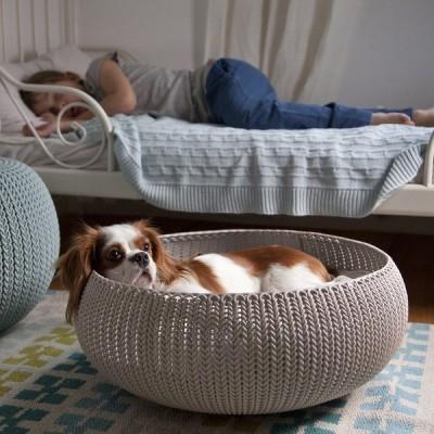 ペットベッド COZY BED(コージーベッド) ペットハウス ベージュ MODERN MIRAGE-STYLE 犬 猫 KETER ニット かわいい