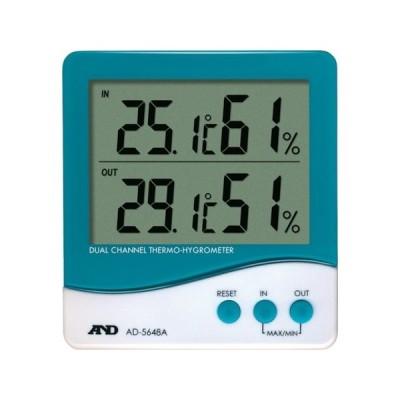 デュアルチャンネル温度・湿度計 A&D AD5648A-8503
