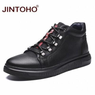 JINTOHO 高級 男性 本革 牛革 ブーツ 靴 シューズ スニーカー サイズ選択