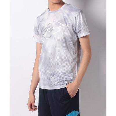 LOTTO (ロット) グラフィックTシャツ(ヨコ) M WHT メンズ LO-S19-008-017