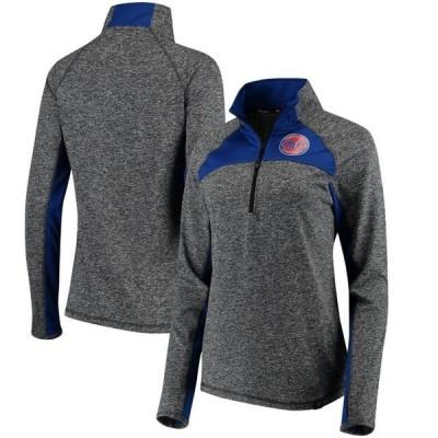 レディース スポーツリーグ バスケットボール New York Knicks Fanatics Branded Women's Static Quarter-Zip Pullover Jacket - Heathere