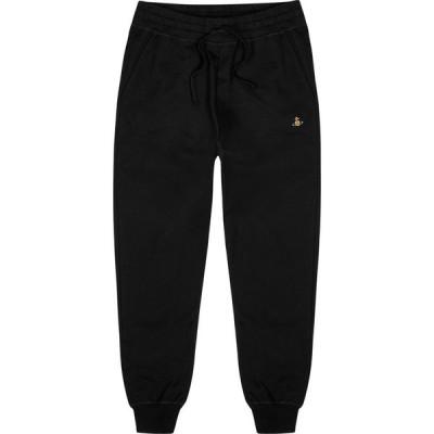 ヴィヴィアン ウエストウッド Vivienne Westwood メンズ スウェット・ジャージ ボトムス・パンツ black logo-embroidered cotton sweatpants Black