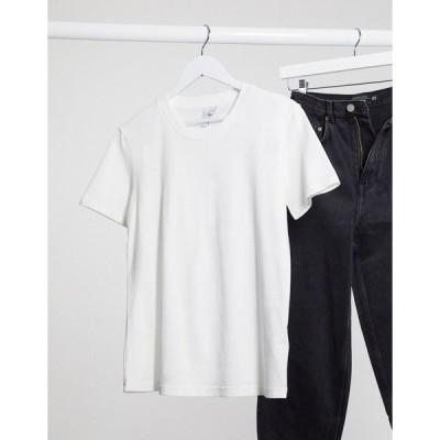 アンドアザーストーリーズ レディース Tシャツ トップス & Other Stories organic cotton classic round neck t-shirt in white White