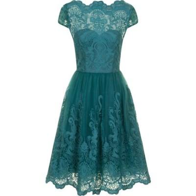 チチ Chi Chi レディース パーティードレス ワンピース・ドレス Metallic Lace Tea Dress Pastel Green