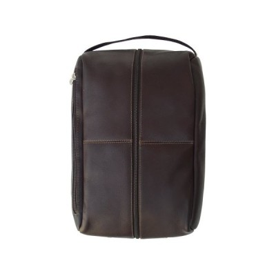 Piel Leather Deluxe Shoe Bag, Chocolate, One Size