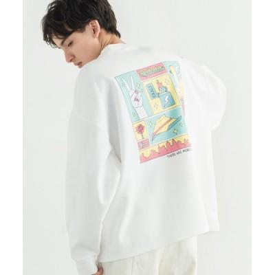 Rocky Monroe / オーバーサイズ グラフィック イラスト バックプリント ポンチ BIG ロンT MEN トップス > Tシャツ/カットソー