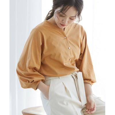 (ViS/ビス)【Silky smooth touch】【前後2WAY】タックボリューム袖プルオーバー/レディース キャメル系(26)