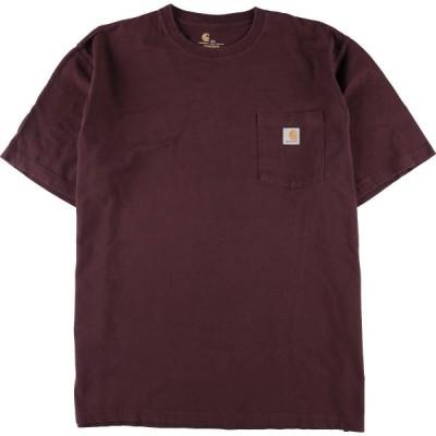 カーハート Carhartt ワンポイントロゴポケットTシャツ メンズXXXL /eaa076810