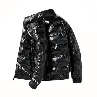 メンズ ダウンジャケット 冬 韓国 光沢 ストリートジャケット 大きいサイズ 中綿入れ 厚手 気持ちいい 防水防風 暖か トップス バイク