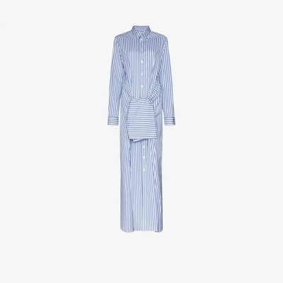 ジル サンダー Jil Sander レディース ワンピース マキシ丈 ワンピース・ドレス Mattie tie waist cotton maxi dress blue