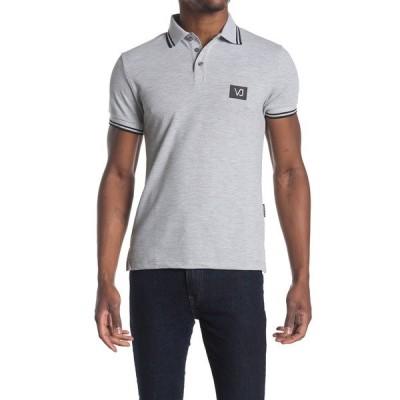 ヴェルサーチ メンズ ポロシャツ トップス Trim Polo Shirt GREY