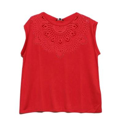 デシグアル Desigual Tシャツ半袖 BUDAPEST (ピンク/レッド)