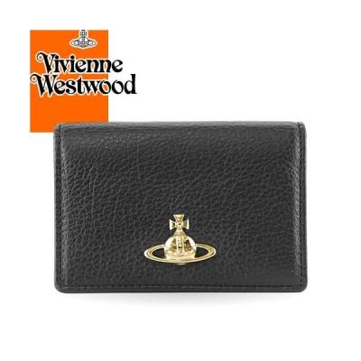 ヴィヴィアンウエストウッド ヴィヴィアン Vivienne Westwood パスケース 定期入れ 名刺入れ バルモラル カードホルダー レディース ブランド 黒 ブラック