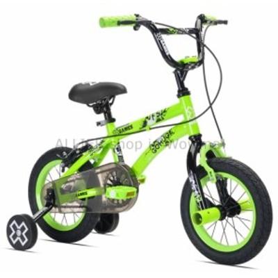 "BMX X-Games 12 ""男の子用、BMX自転車、グリーン、2?5歳用男の子用バイク自転車新  X-Games 12"" Bo"