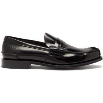 チャーチ Churchs メンズ ローファー シューズ・靴 Tunbridge leather penny loafers Black