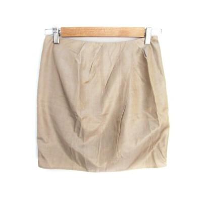 【中古】フランクウィーンセンス FRANQUEENSENSE スカート タイト ミニ丈 38 ベージュ /FF29 レディース 【ベクトル 古着】