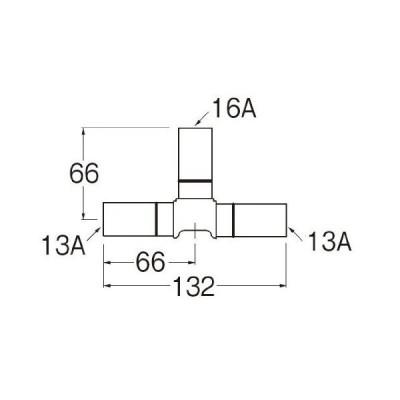 SANEI ワンタッチタイプのチーズ 16A×13A×13A T660J-4-16AX13AX13A