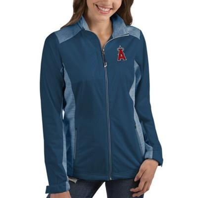 アンティグア ジャケット&ブルゾン アウター レディース Los Angeles Angels Antigua Women's Revolve FullZip Jacket Navy