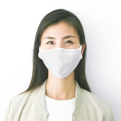 紫外線対策 洗えるマスク 送料無料 やわらか伸縮コットン/ポリエステル素材 大人普通サイズ/こども用Mサイズ 洗える 3枚入り 抗菌加工 ホワイト色