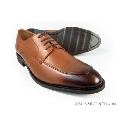 PARASHOE 本革 Uチップ ビジネスシューズ 茶色 ワイズ3E 22cm、22.5cm、23cm、23.5cm、24cm【小さいサイズ 革靴・紳士靴】