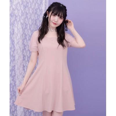 【シークレットハニー】 バックレースアップカットワンピース レディース ピンク F Secret Honey