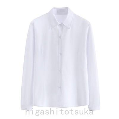 大きいサイズの服 シャツ 白 レディース メンズ ブラウス トップス 学生服 制服スーツシャツ フォーマルシャツ 長袖 春夏秋