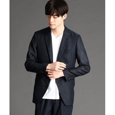【ニコルクラブフォーメン】 ストレッチカラミジャケット メンズ 67ネイビー 46(M) NICOLE CLUB FOR MEN