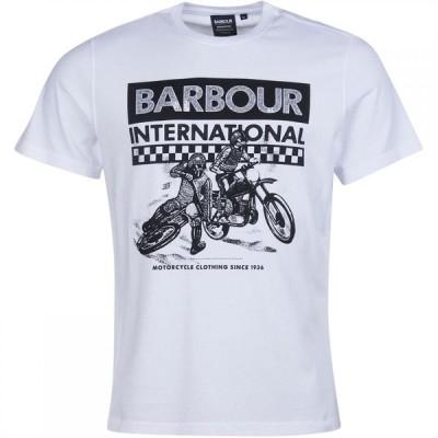 バブアー Barbour International メンズ Tシャツ トップス Archive Checkers T-Shirt White WH
