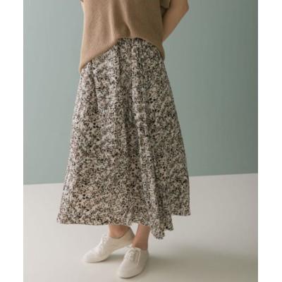 【WEB限定】thint カッセンリーフプリントスカート
