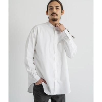 シャツ ブラウス amne アンヌ 日本製 国産 Solid B.C L/S shirts オーバーサイズバンドカラーシャツ amn-SH-001