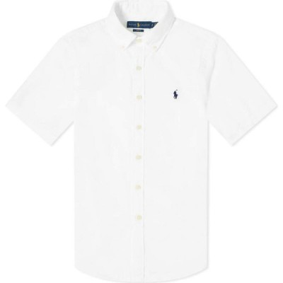 ラルフ ローレン Polo Ralph Lauren メンズ 半袖シャツ トップス short sleeve slim fit seersucker shirt White