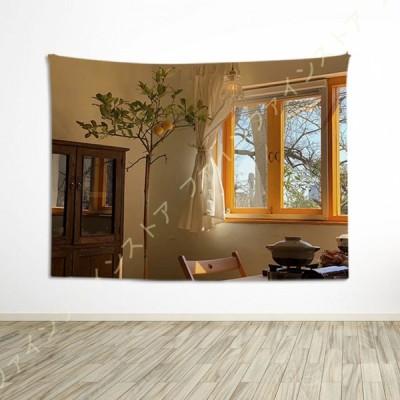 タペストリー 多機能壁掛け 美しい海 夜景 モダン 北欧風 西海岸風 間仕切り ホームデコレーション おしゃれ壁掛け 窓カーテン 擬似窓 だまし絵 新築お祝い