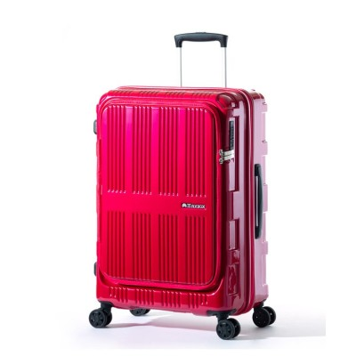 【カバンのセレクション】 アジアラゲージ マックスボックス スーツケース フロントオープン フロントドア 深底 拡張 62L/70L Mサイズ MAXBOX ALI-5611 ユニセックス ピンク フリー Bag&Luggage SELECTION