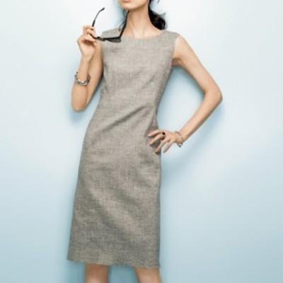 セールアイテム ファッション ワンピース チュニック お出かけ イタリア素材 リネン ダブルフェイス ワンピース PC0020