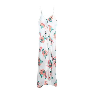 VIX PAULA HERMANNY ロングワンピース&ドレス ホワイト M レーヨン 100% ロングワンピース&ドレス