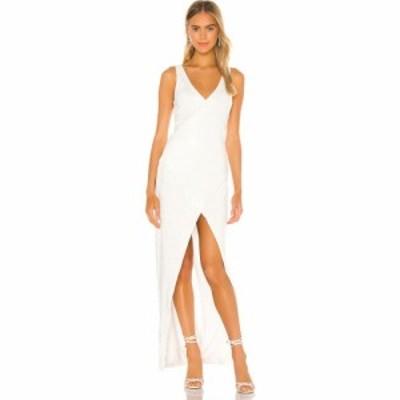 エヌビーディー NBD レディース パーティードレス ワンピース・ドレス Tristan Gown Shiny White