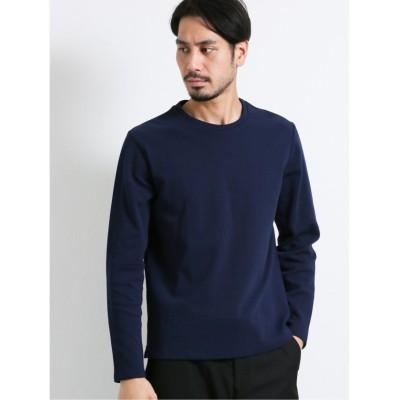 【タカキュー】 ソロテックス/SOLOTEX ミニリップル クルーネック長袖Tシャツ メンズ ネイビー LL(XL) TAKA-Q