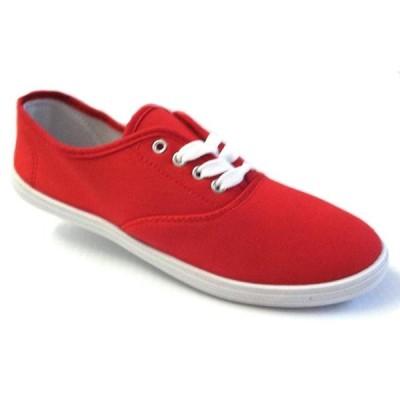 レディース 靴 スニーカー Shoes 18 Womens Canvas Shoes Lace up Sneakers 18 Colors Available (5 B(M) US Red 324)